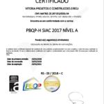 Certificação Vitória Projetos e Construções