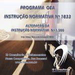 OEA – Instrução Normativa Nº 1833 – 26/09/2018