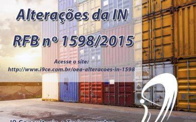 Alterações da IN RFB nº 1598/2015