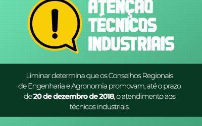 Comunicado CREA – Técnicos Industriais