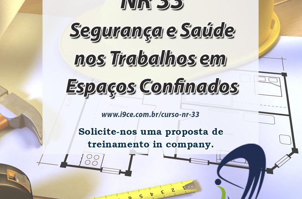Treinamento – NR 33 – Segurança e Saúde nos Trabalhos em Espaços Confinados