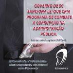Governo sanciona lei que cria programa de combate à corrupção.