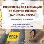 Curso de Interpretação e Formação de Auditor Interno SIAC-PBQP-h 2018 – Nova Turma