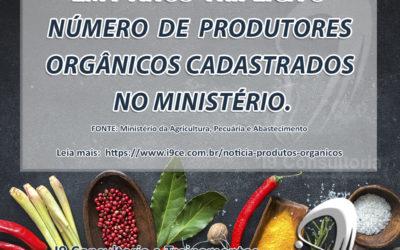 Triplica o número de produtores orgânicos cadastrados no ministério em 7 anos