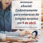 eSocial: Cadastramento para empresas do Simples termina em 9 de abril