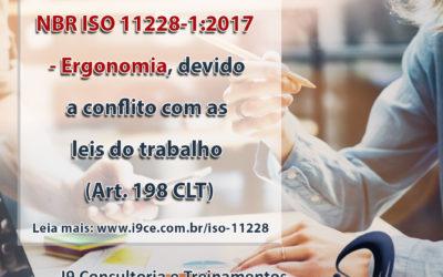 Cancelamento da ABNT NBR ISO 11228-1:2017 – Ergonomia