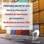 Alteração de Alíquota – Tarifa Externa Comum (TEC)