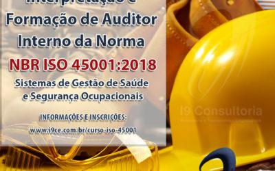 Curso: Interpretação e Formação de Auditor Interno daNorma NBR 45001:2018