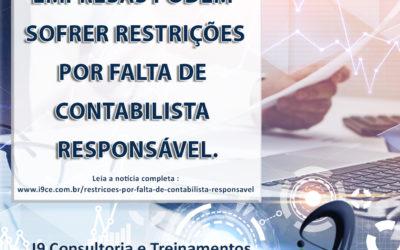 Empresas podem sofrer restrições por falta de contabilista responsável
