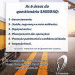 SASSMAQ – 6 áreas do questionário de avaliação
