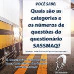 SASSMAQ – Categorias e Número de Questões