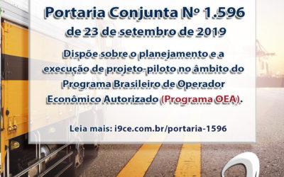 Portaria Conjunta Nº 1.596 – de 23 de setembro de 2019