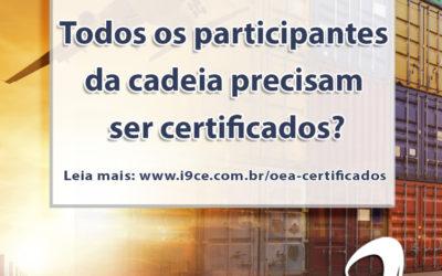 Dúvida OEA: Todos os participantes da cadeia precisam ser certificados?