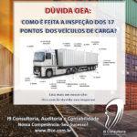 Dúvida OEA: Como é feita a inspeção dos 17 pontos dos veículos de carga?