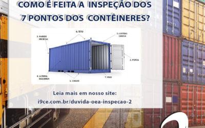 Dúvida OEA: Como é feita a inspeção dos sete pontos dos contêineres?