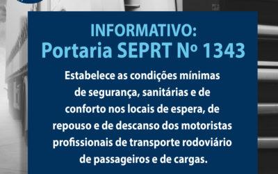 Portaria SEPRT Nº 1343 DE 02/12/2019