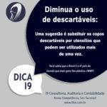 Dica 01:Diminua o uso de descartáveis