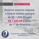 Informativo: Ano Novo, Salário Mínimo Novo