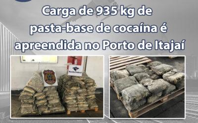 Notícia: Carga de 935 kg de pasta-base de cocaína é apreendida no Porto de Itajaí