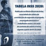 Notícia: Nova tabela INSS 2020