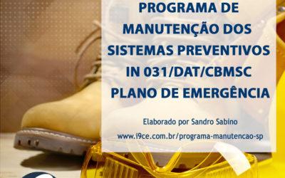 Material Gratuito: Programa de Manutenção dos Sistemas Preventivos IN 031/DAT/CBMSC