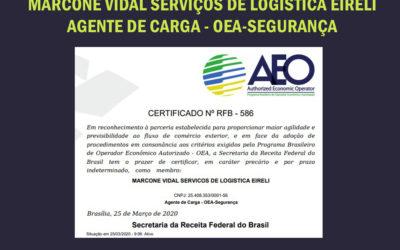Mais um cliente Certificado no Programa OEA – Conline