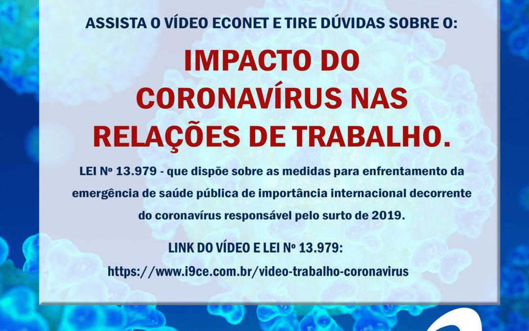 Vídeo – Impacto do Coronavírus nas Relações de Trabalho