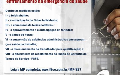 MP Nº 927 – Medidas trabalhistas para enfrentamento da emergência de saúde