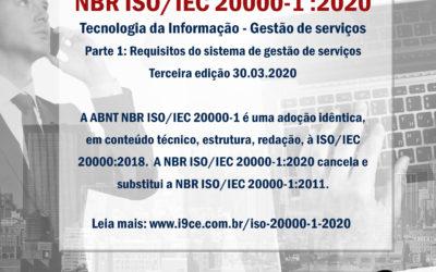 NBR ISO/IEC 20000-1:2020 – Tecnologia da informação – Gestão de serviços