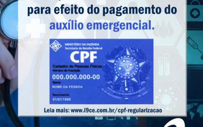 Coronavírus: Regularização de CPF com pendências eleitorais – Auxílio emergencial