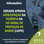 Informativo: Senado aprova a antecipação da vigência da LGPD