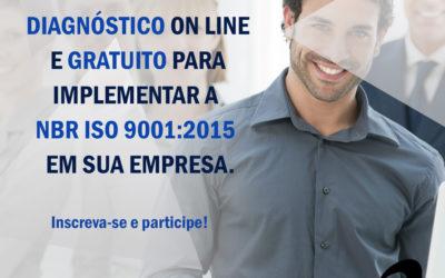 Sorteio: Diagnóstico On line Gratuito para implementar aISO 9001:2015