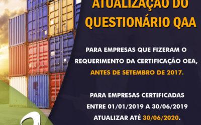 OEA – Atualização do Questionário de Autoavaliação (QAA)