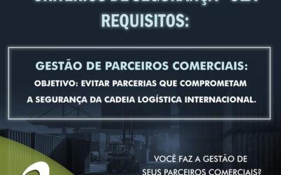 OEA – Critérios de Segurança – Gestão de Parceiros Comerciais
