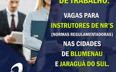 Oportunidade: Vagas para Instrutores de Normas Regulamentadoras