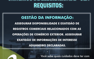OEA – Critérios de Elegibilidade – Gestão da Informação