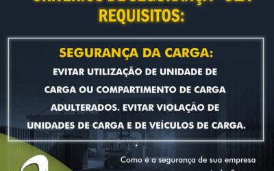 OEA – Critérios de Segurança – Segurança da Carga