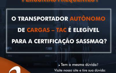 Dúvidas SASSMAQ: Transportadores Elegível
