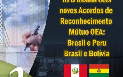 Notícia: RFB assina dois novos Acordos de Reconhecimento Mútuo OEA