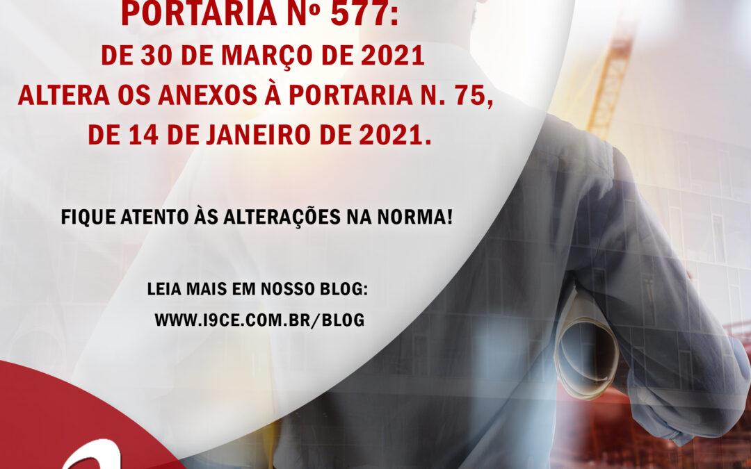 SiAC-PBPQ-h – PORTARIA Nº 577 – Altera os anexos à Portaria n. 75