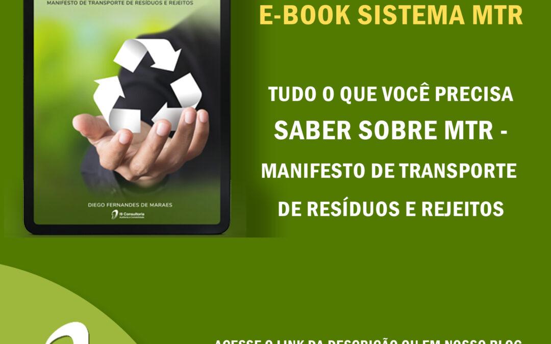E-book Gratuito: Sistema MTR – Manifesto de Transporte de Resíduos e Rejeitos
