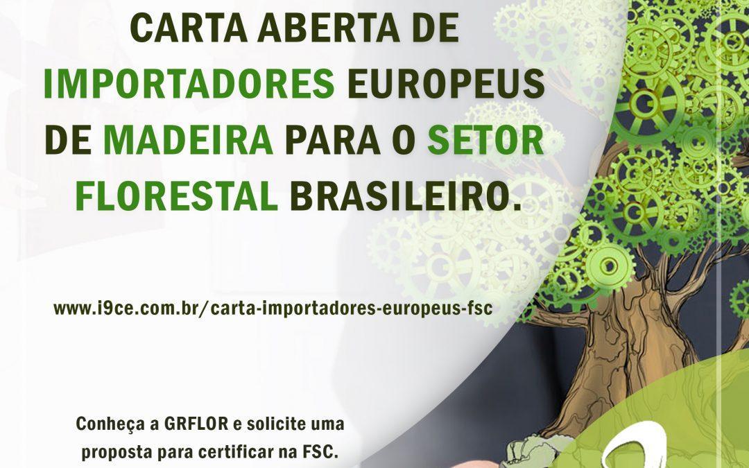 Florestal: Carta Aberta de Importadores Europeus para o Setor Florestal Brasileiro
