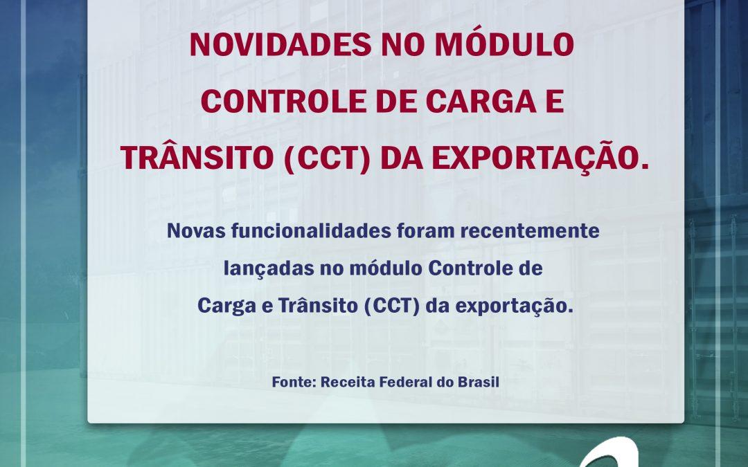 Novidades no módulo Controle de Carga e Trânsito (CCT) da exportação